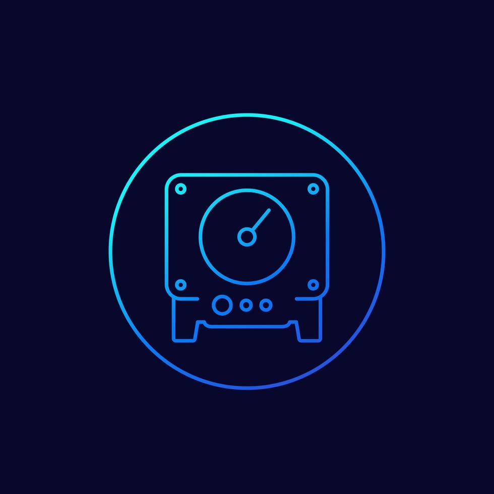 icona della linea di metro per il web vettore