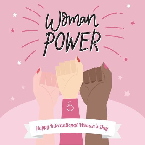 Vettore dell'illustrazione di potere della donna