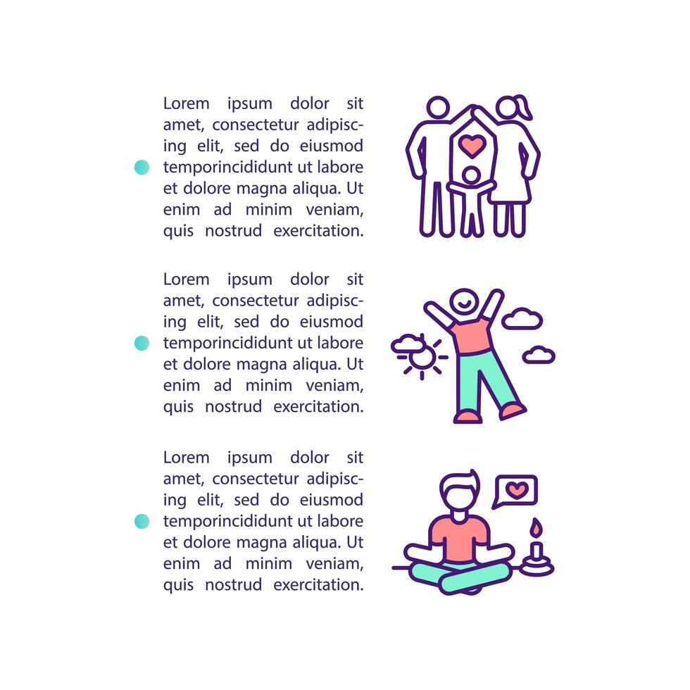icona del concetto di miglioramento della qualità della vita con testo vettore