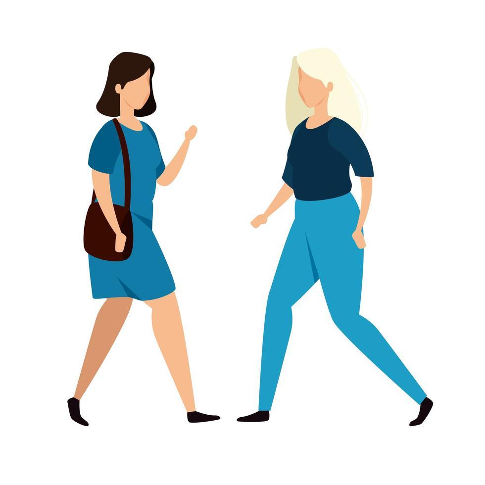 gruppo di donne avatar personaggio vettore