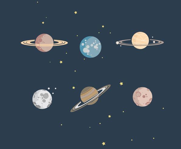 Vettore delle illustrazioni del pianeta
