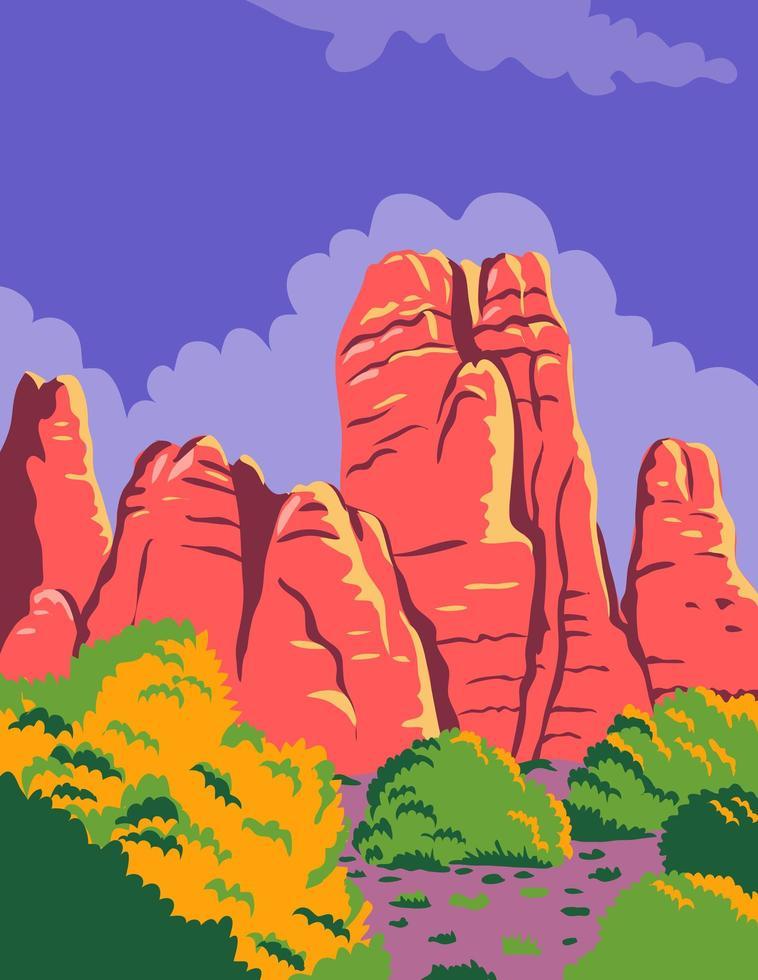 parco nazionale di canyonlands a moab utah vettore