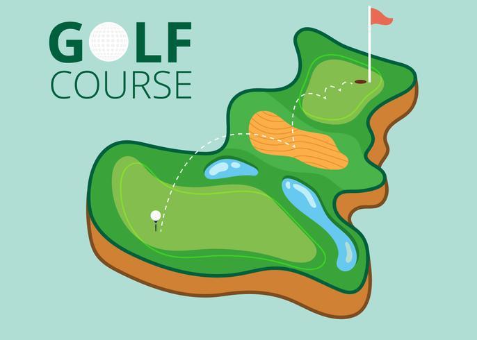 Mappa del campo da golf vettore