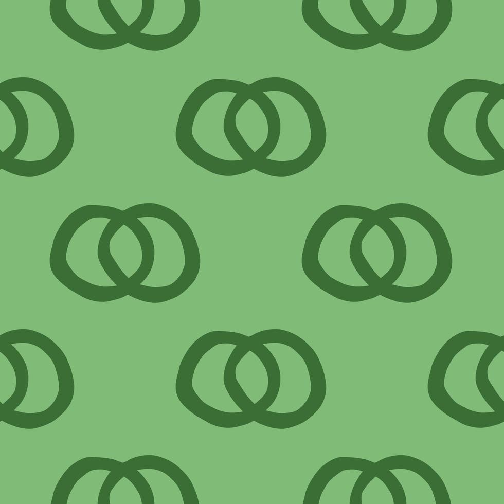 Vector seamless pattern, texture di sfondo. disegnati a mano, colori verdi.