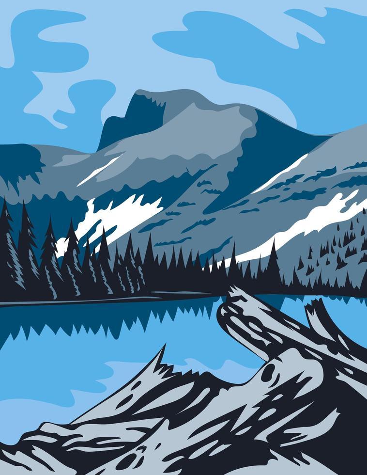 parco nazionale del grande bacino nella contea del pino bianco nevada vettore