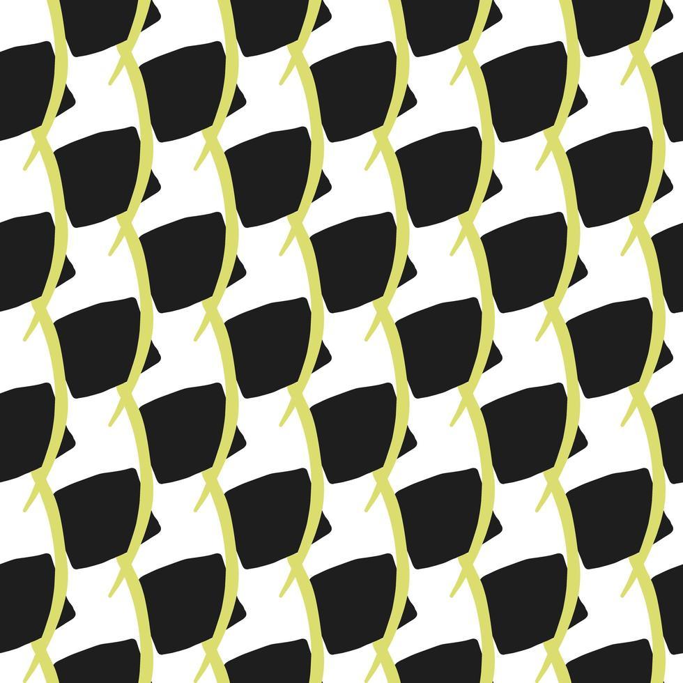 vettore seamless texture di sfondo pattern. colori disegnati a mano, neri, gialli, bianchi.