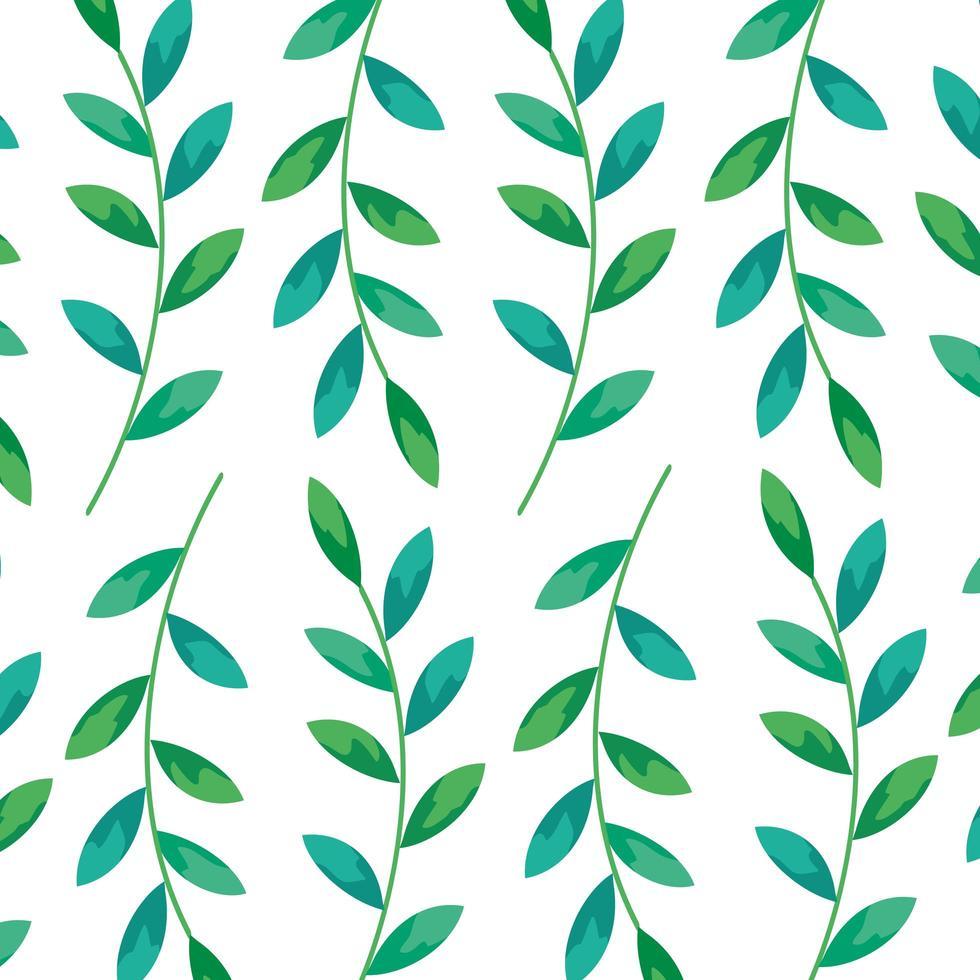 sfondo di rami con decorazioni di foglie vettore
