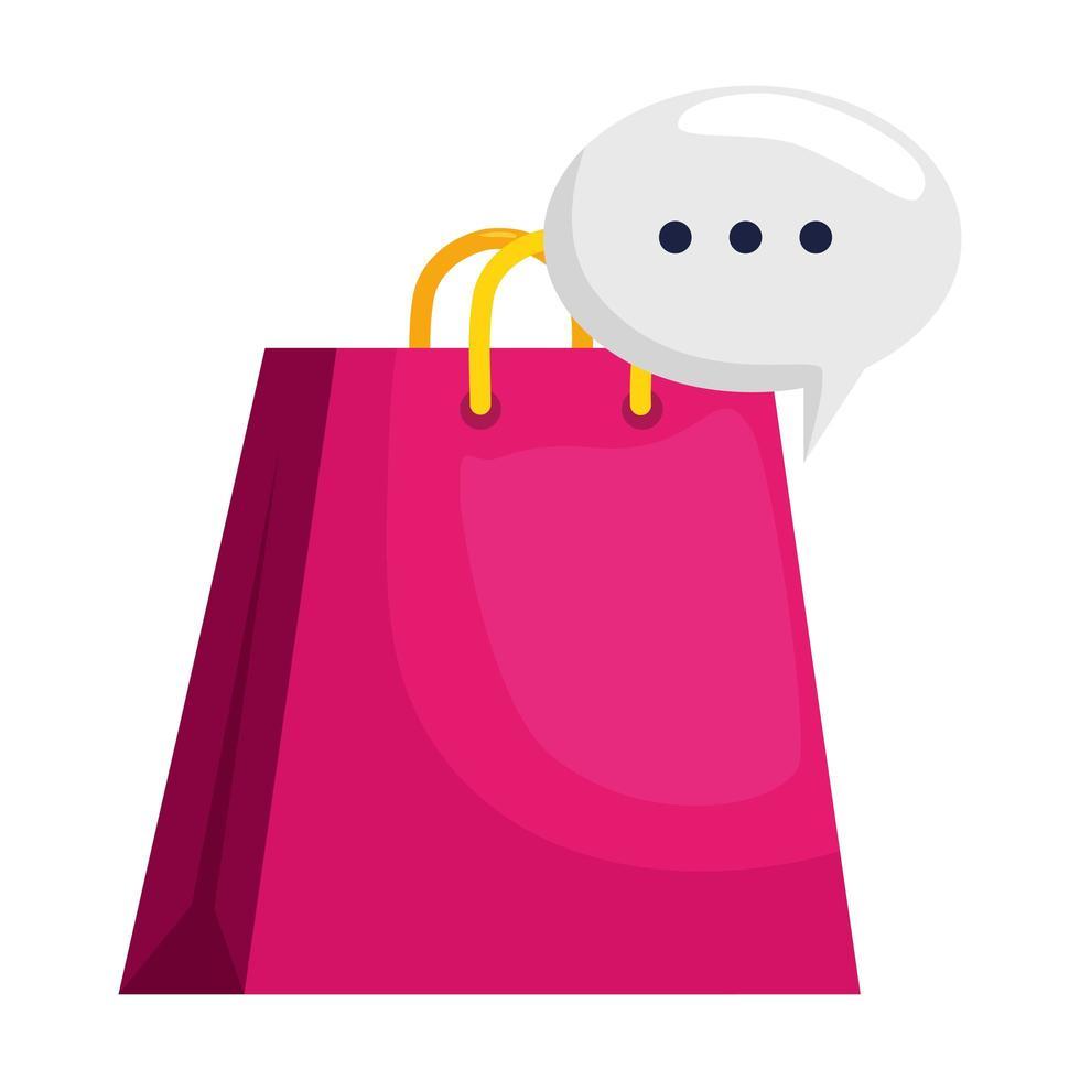 shopping bag isolato e disegno vettoriale bolla