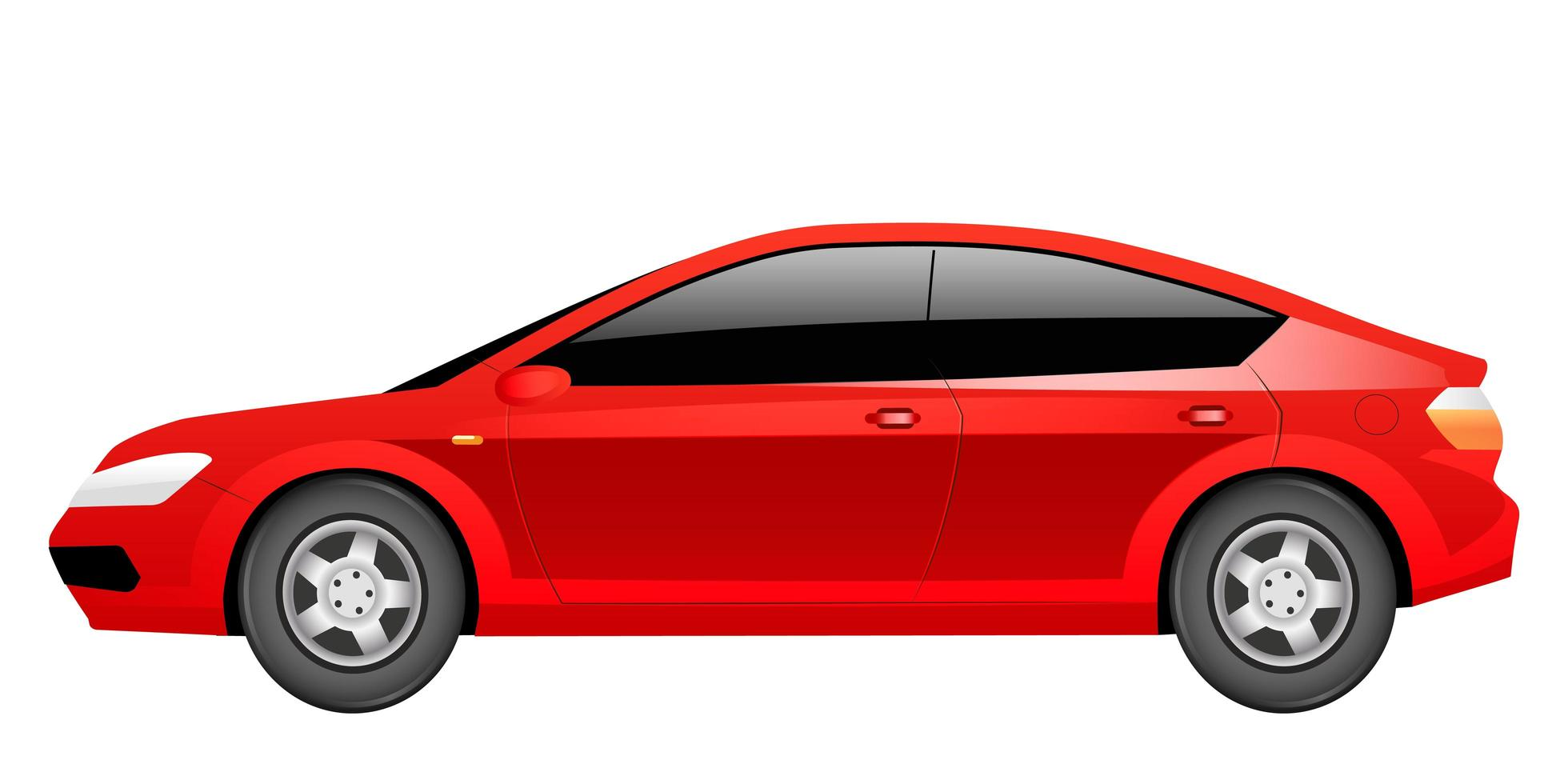 berlina rossa fumetto illustrazione vettoriale