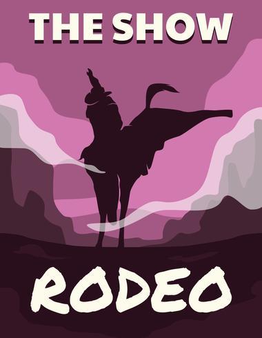 Volantino Rodeo di cavallo vettore