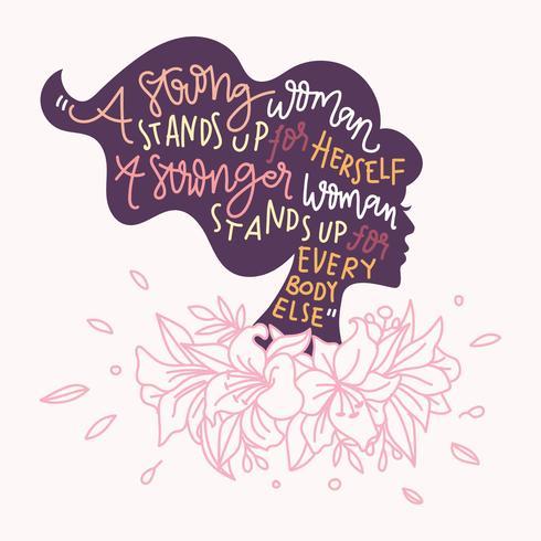 Illustrazione di vettore di citazione della donna