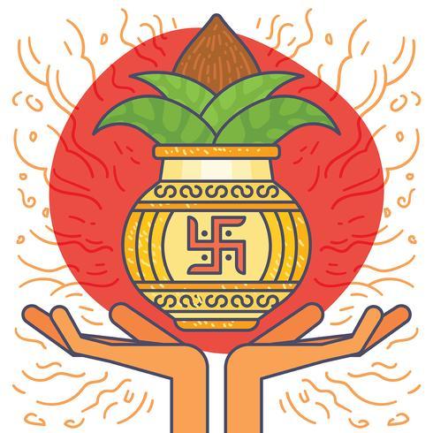 Illustrazione di Kalash vettore