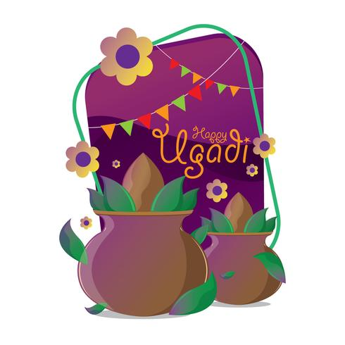 Vettore di celebrazione di Ugadi