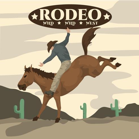 Illustrazione di Rodeo vettore