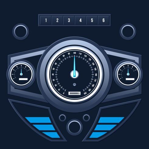 Vettore moderno dell'interfaccia utente del cruscotto dell'automobile