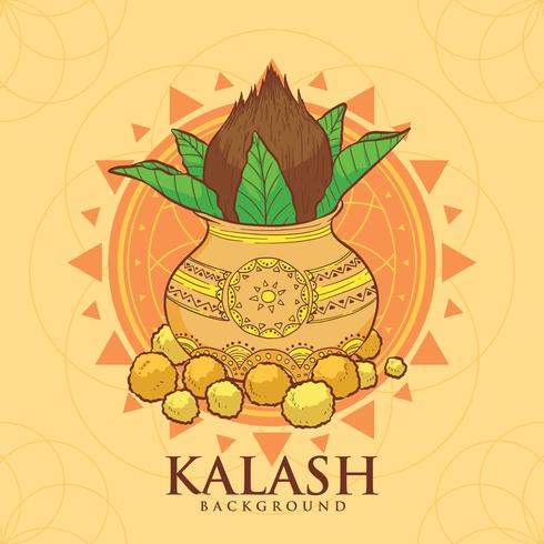Illustrazione di rame Kalash vettore
