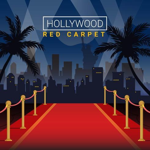 Fondo dell'illustrazione di vettore della fase di Hollywood Red Carpet