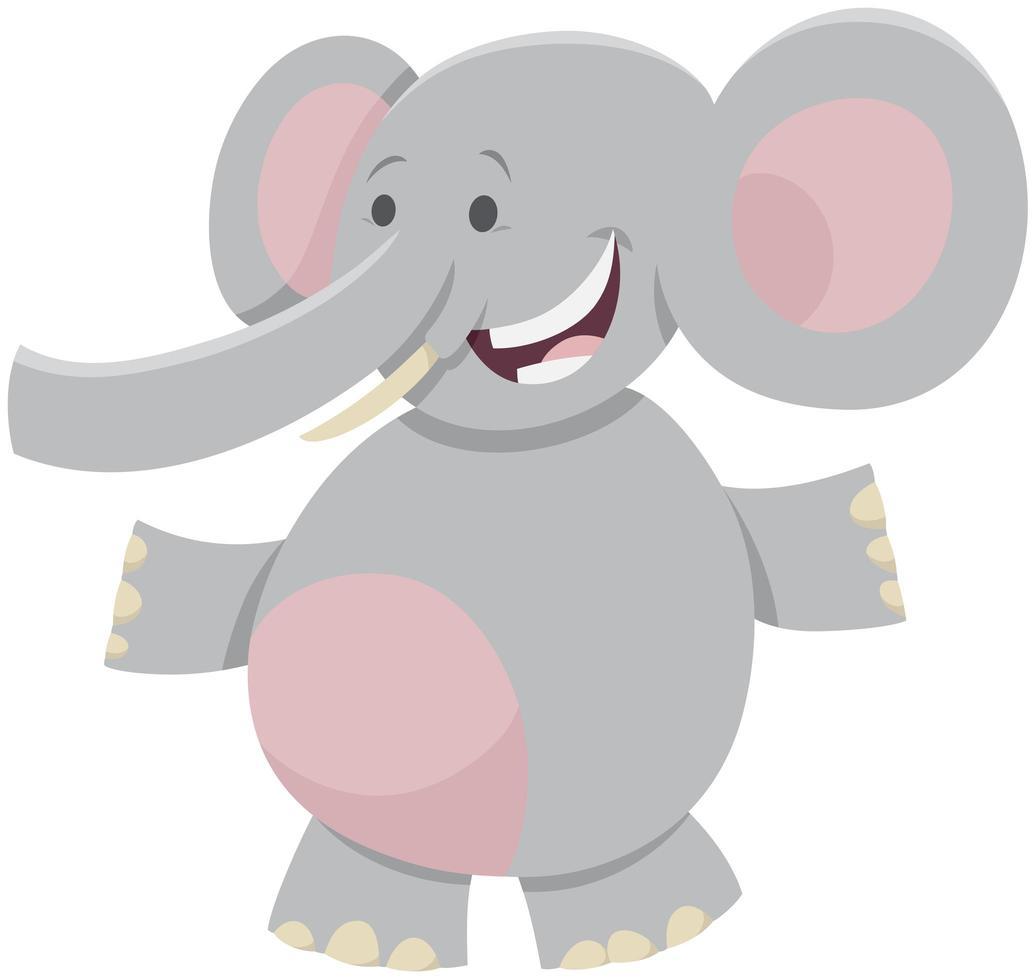 elefante africano cartoon carattere animale selvatico vettore