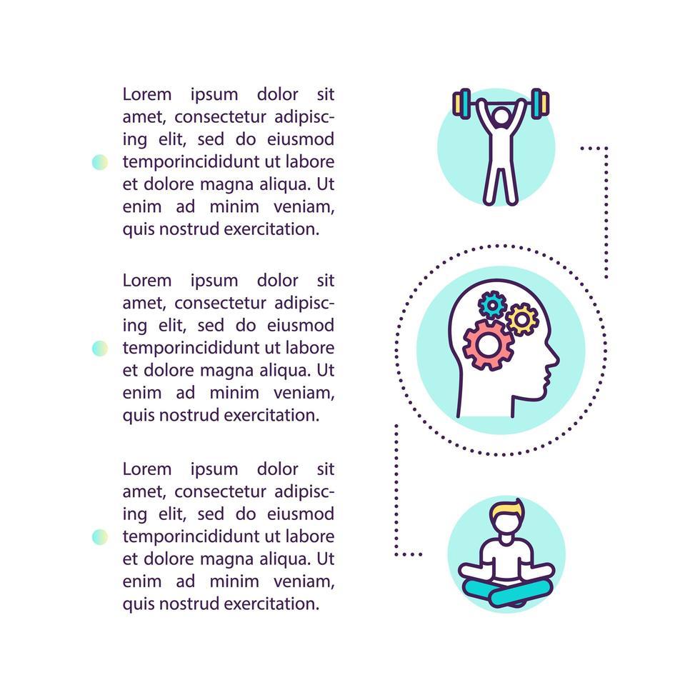 icona del concetto di hacking corpo e mente con testo vettore