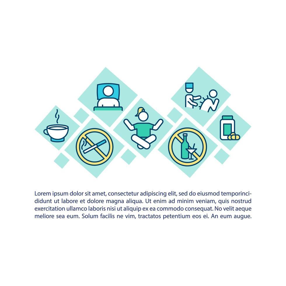 icona del concetto di trattamento CFS con testo vettore