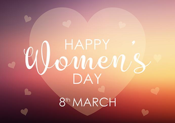 Fondo del giorno delle donne con progettazione pastello del cuore vettore