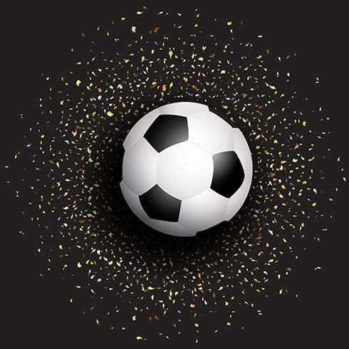 Calcio su sfondo di coriandoli vettore
