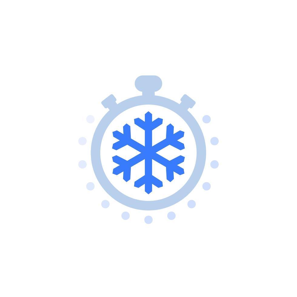 icona del tempo di congelamento su bianco vettore