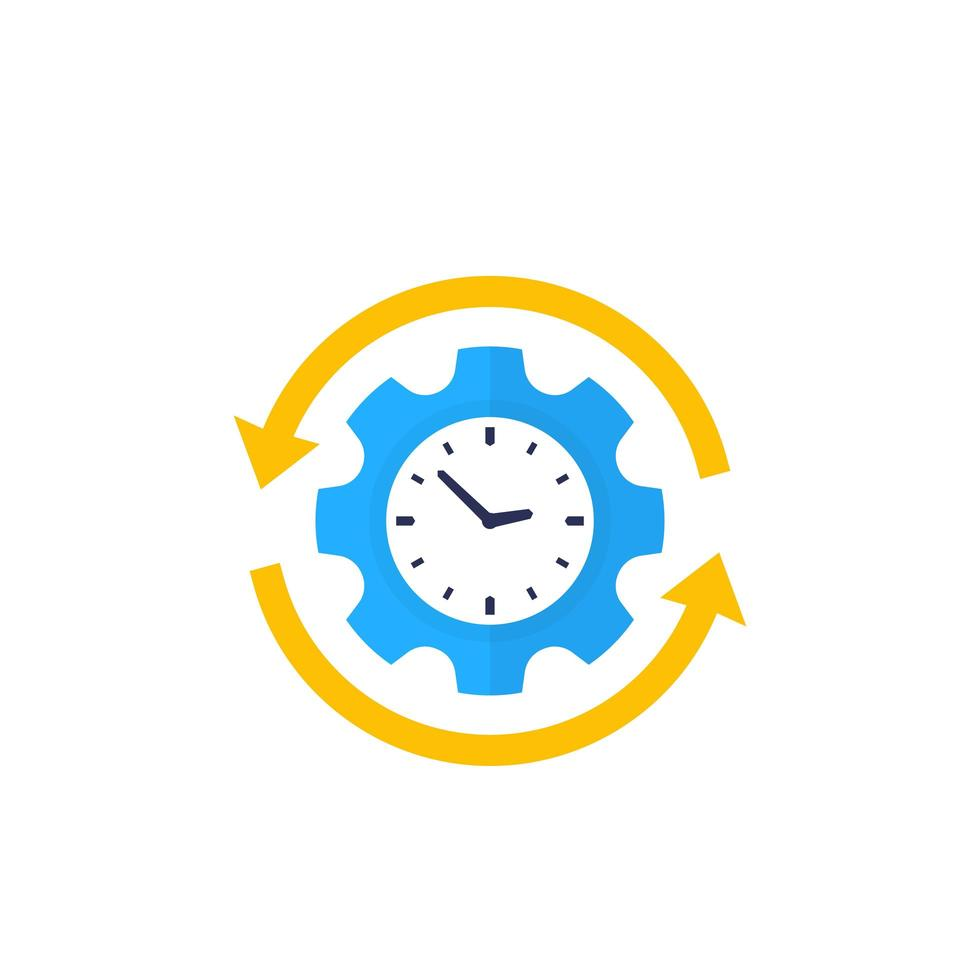 produttività, icona di vettore di efficienza di produzione