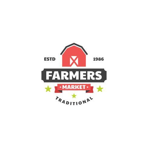 Logo del mercato degli agricoltori vettore