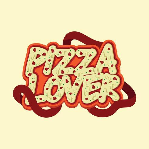 design tipografia pizza amante vettore
