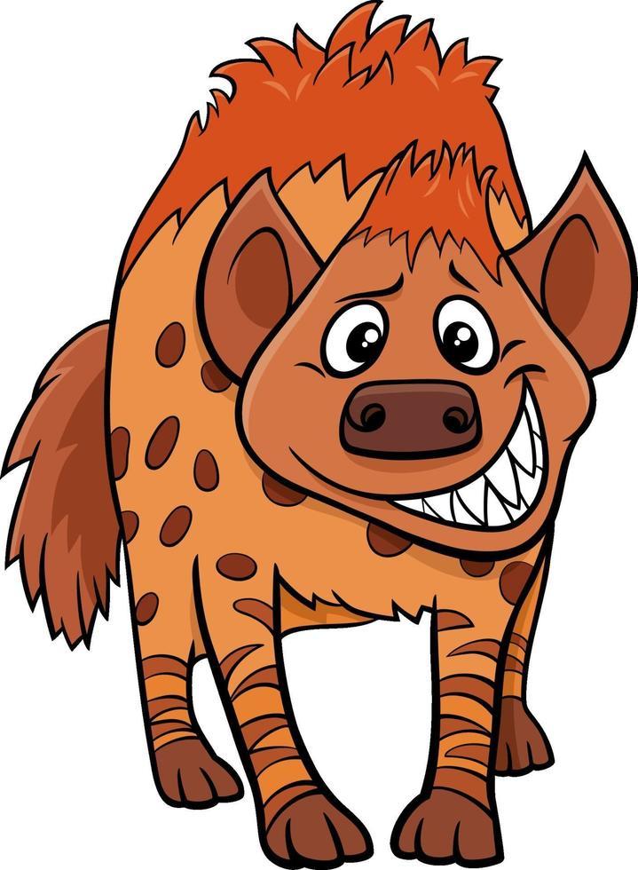Cartoon iena personaggio animale selvatico vettore
