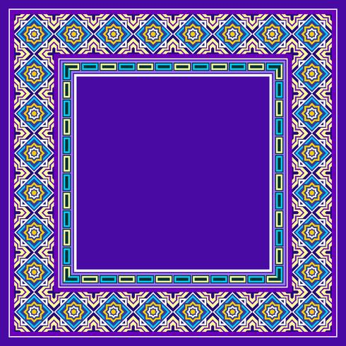 Vettore decorativo del confine islamico