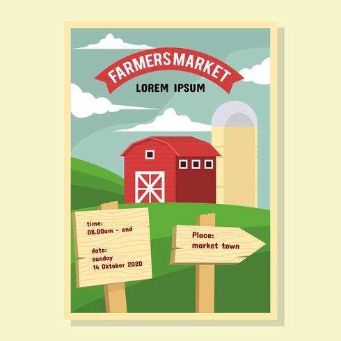 Vettore di Flyer Market Farmer