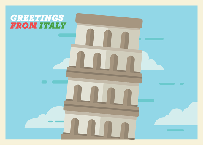 Vettore della cartolina dell'Italia