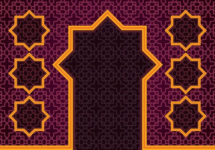 Sfondo del confine islamico vettore