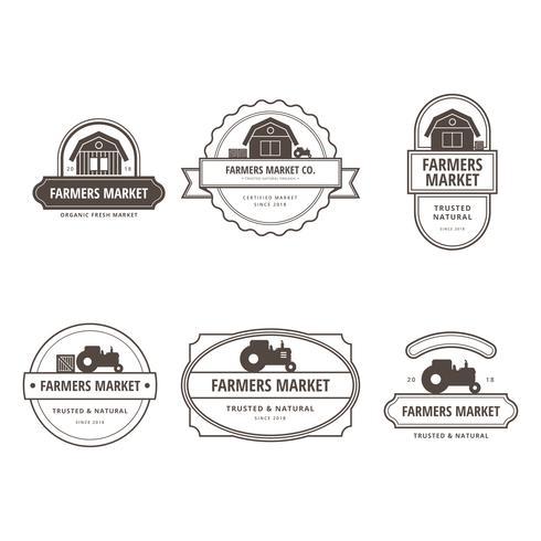 Illustrazione di Logo del mercato degli agricoltori vettore