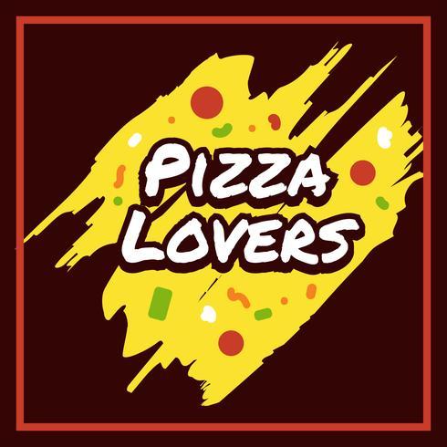 Tipografia Pizza Lovers vettore