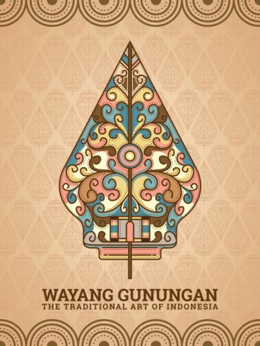 Gunungan Wayang vettore