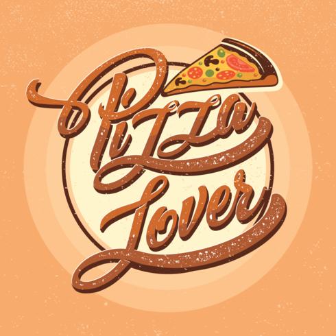 Tipografia Pizza Lover vettore