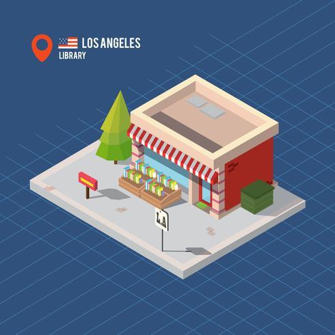 Vettore isometrico di costruzione di Los Angeles