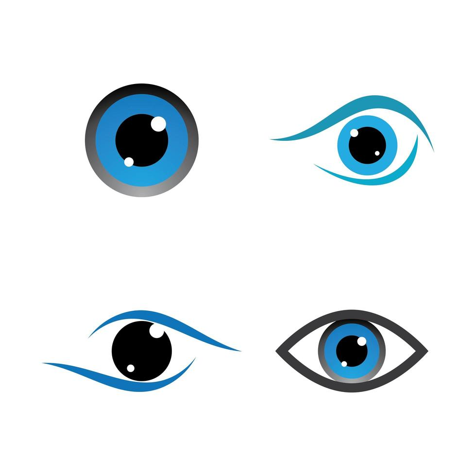 immagini del logo per la cura degli occhi vettore