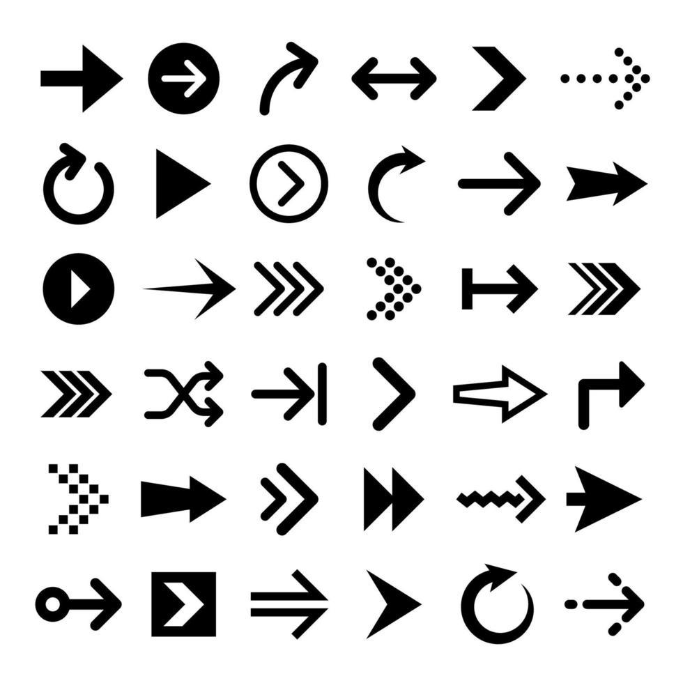 raccolta di icone freccia vettore