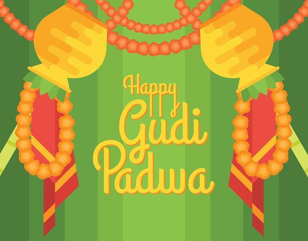 Illustrazione di Gudi Padwa vettore