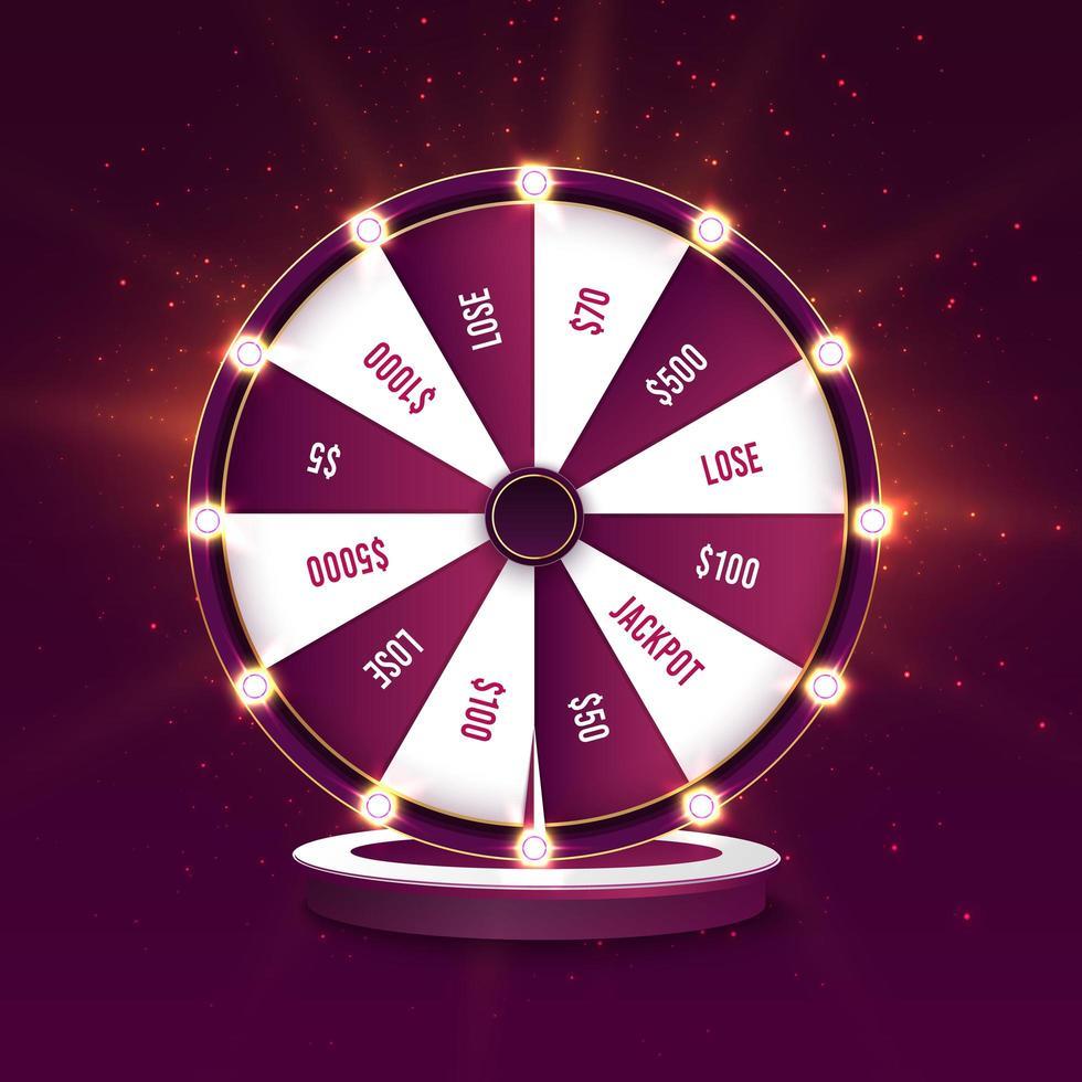 modello della bandiera di vettore della ruota della fortuna di filatura del casinò