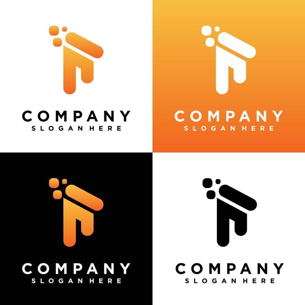 design del logo monogramma vettore