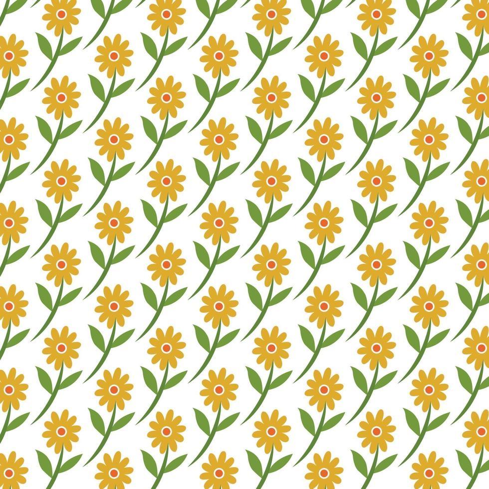 seamless pattern di girasoli vettore