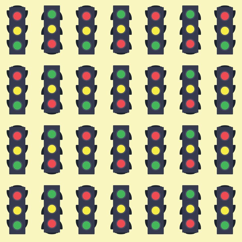 seamless pattern di semafori vettore