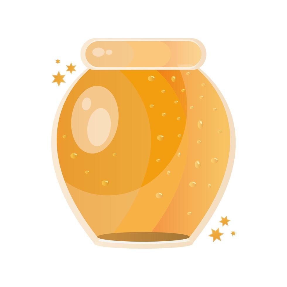 dolce miele nell'icona del barattolo di vetro vettore