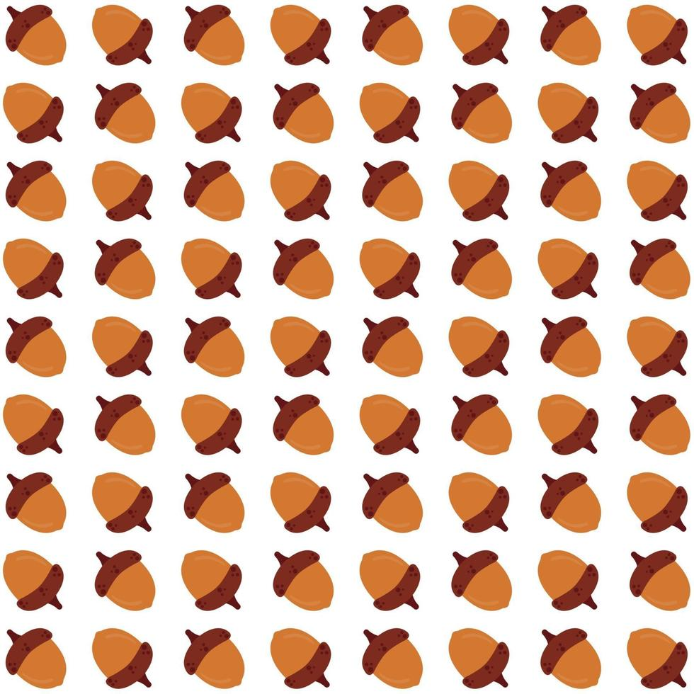 ghiande gialle seamless pattern vettore