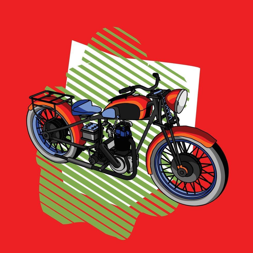 illustrazione di una motocicletta vettore